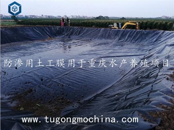 防渗用土工膜用于重庆水产养殖项目