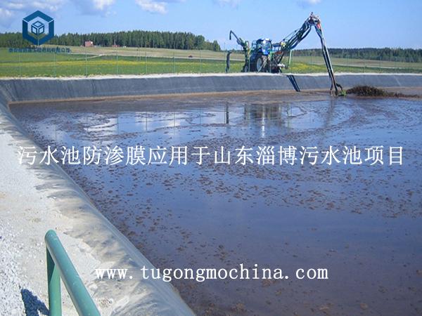 污水池防渗膜应用于山东淄博污水池项目